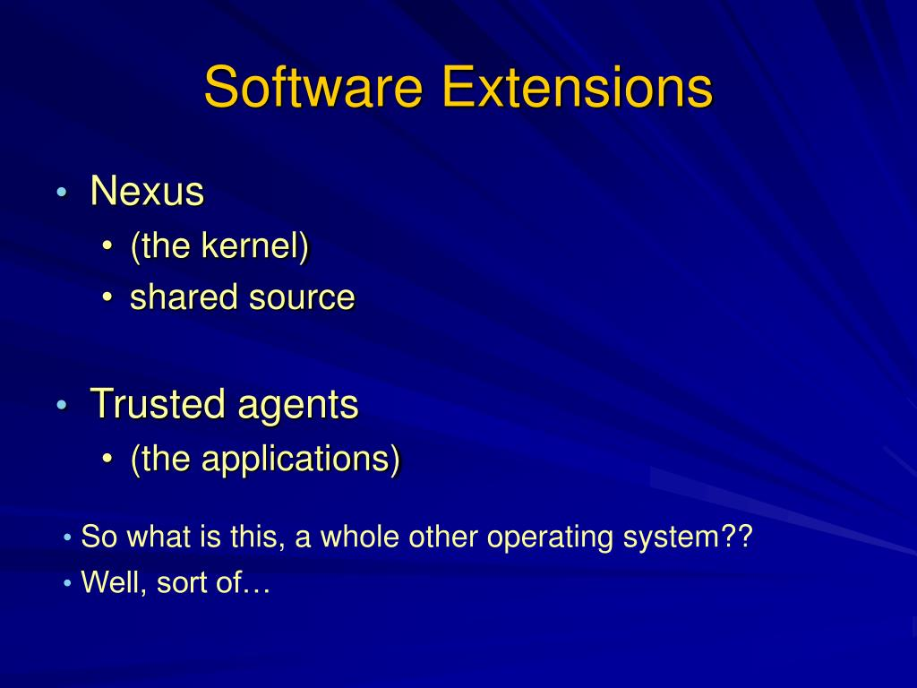 Software Extensions