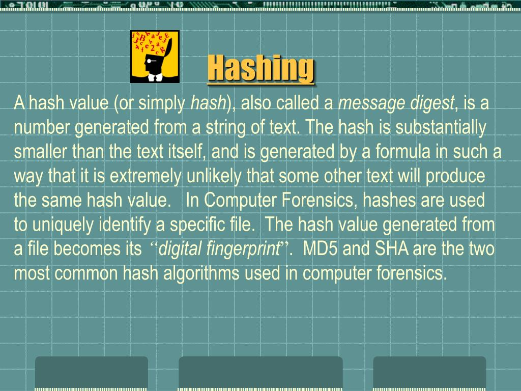 A hash value (or simply