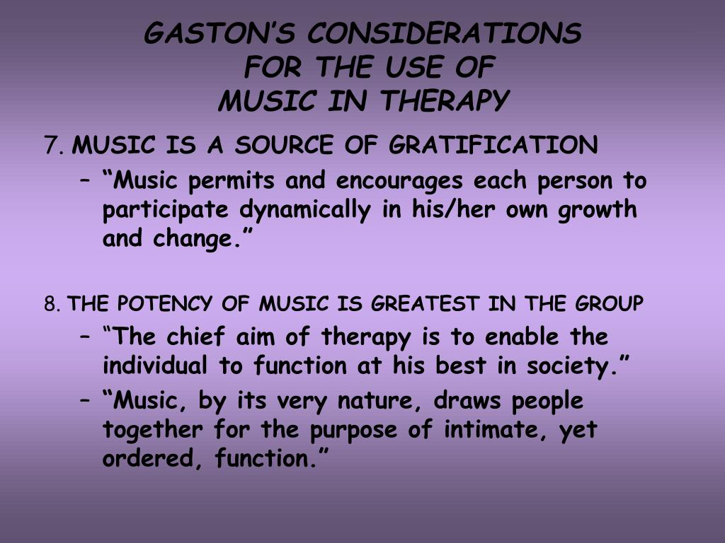 GASTON'S CONSIDERATIONS