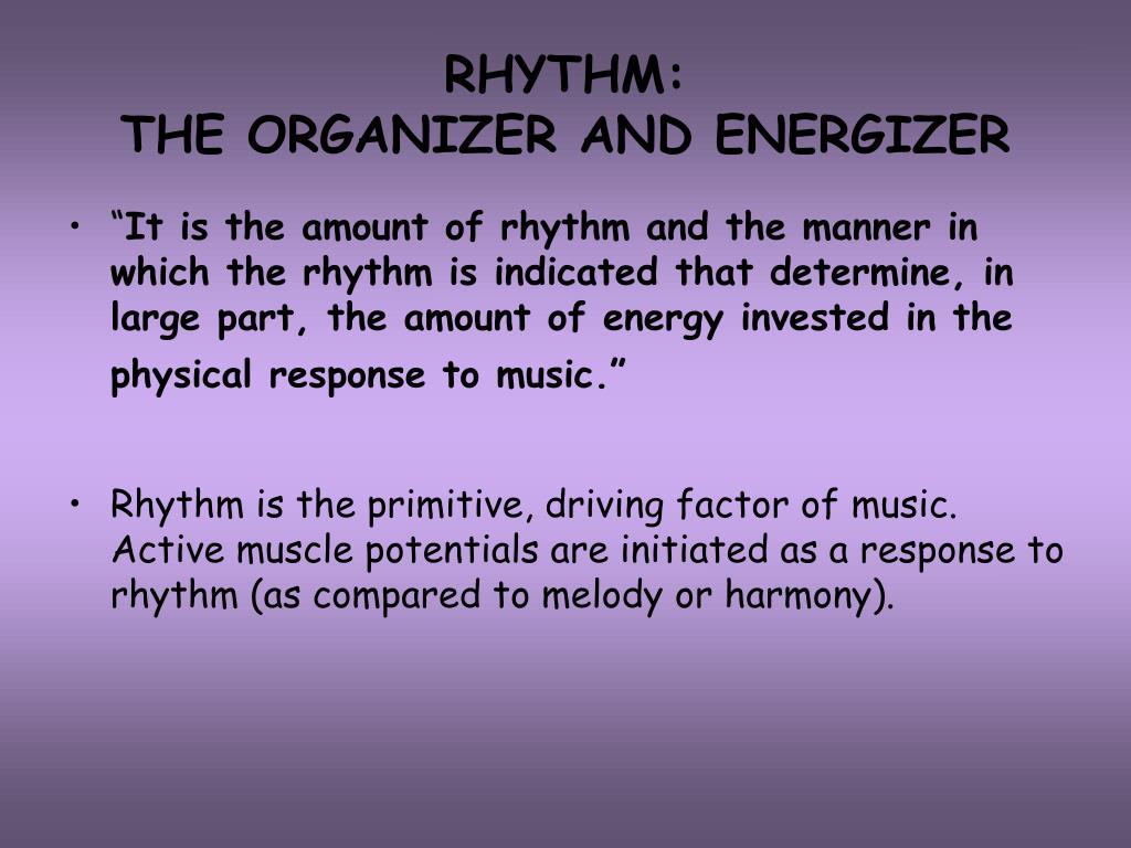 RHYTHM: