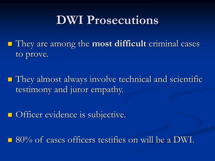 DWI Prosecutions