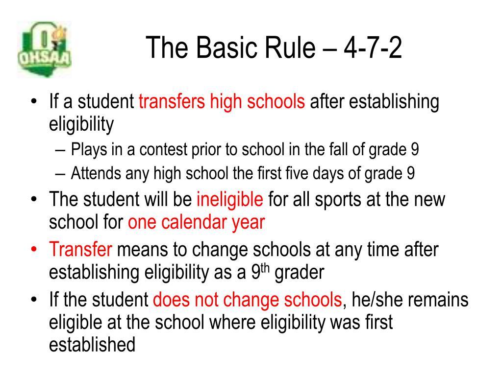 The Basic Rule – 4-7-2