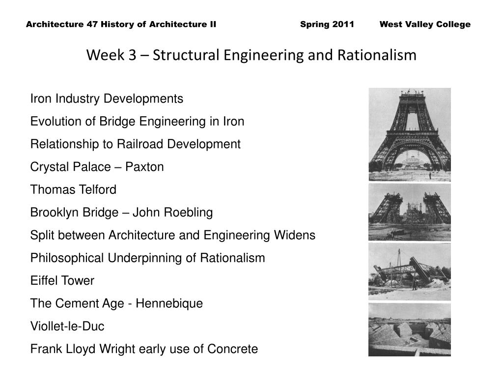 Week 3 – Structural Engineering and Rationalism