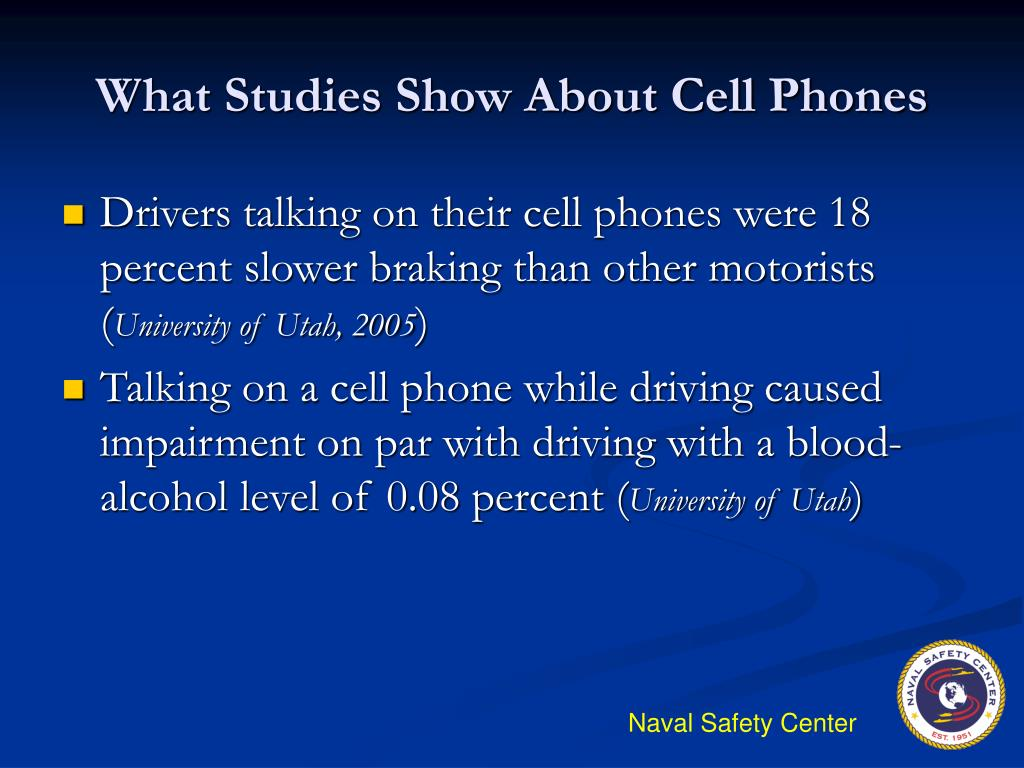an experiment on the performance of drivers who are talking on the cell phone while driving The dangers of driving and talking on the latest studies show that 8% of drivers use a cellphone while driving a comparison of the cell phone driver and.