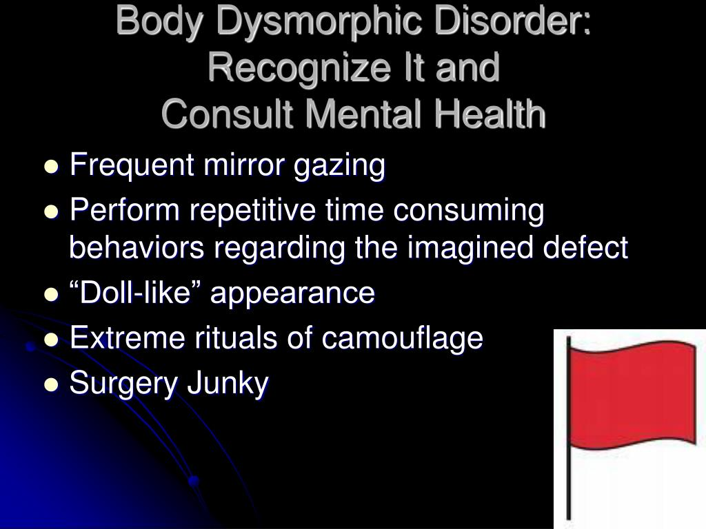 Body Dysmorphic Disorder: Recognize It and