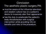 conclusion the aesthetic plastic surgery pa