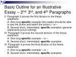 basic outline for an illustrative essay 2 nd 3 rd and 4 th paragraphs