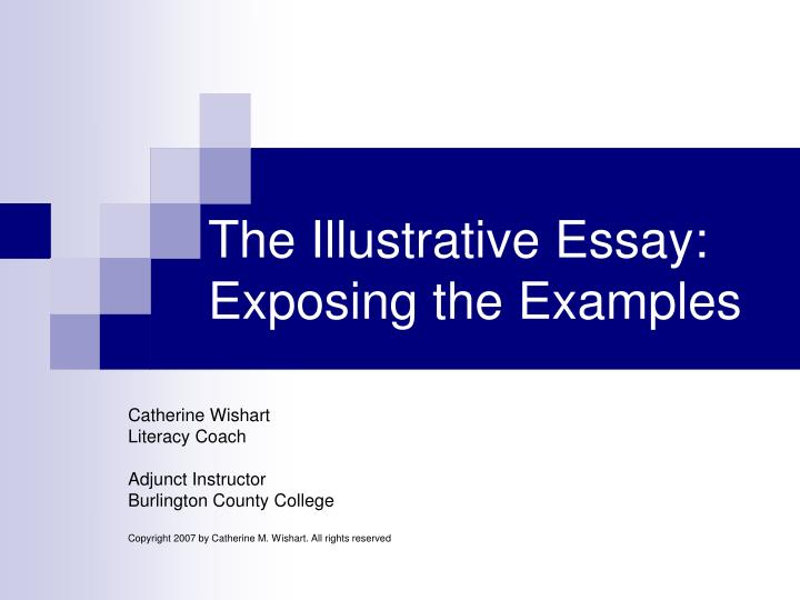 The illustrative essay exposing the examples