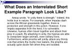 what does an interrelated short example paragraph look like