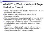 what if you want to write a 5 page illustrative essay