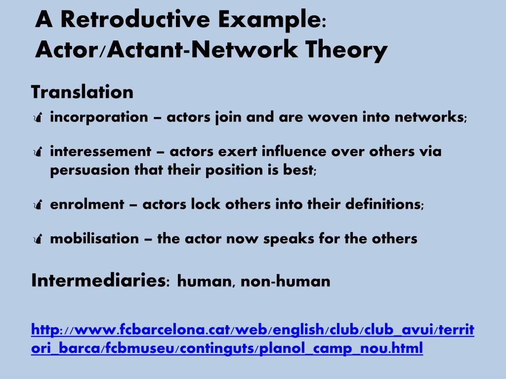 A Retroductive Example: