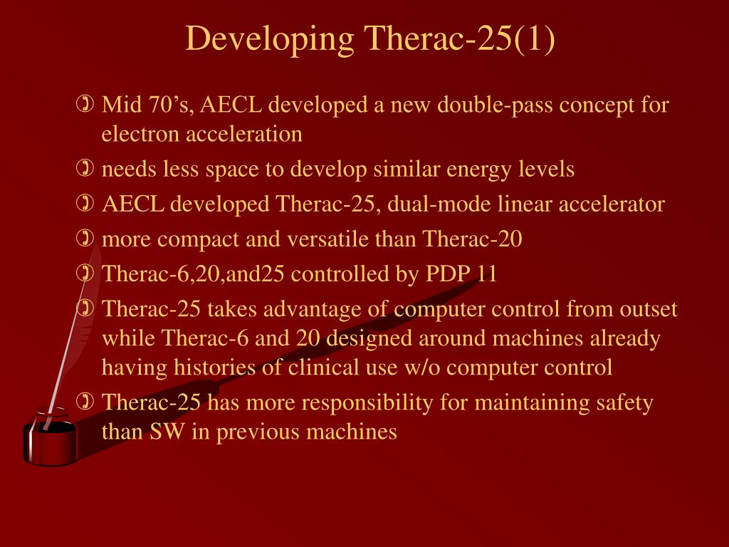 Developing Therac-25(1)