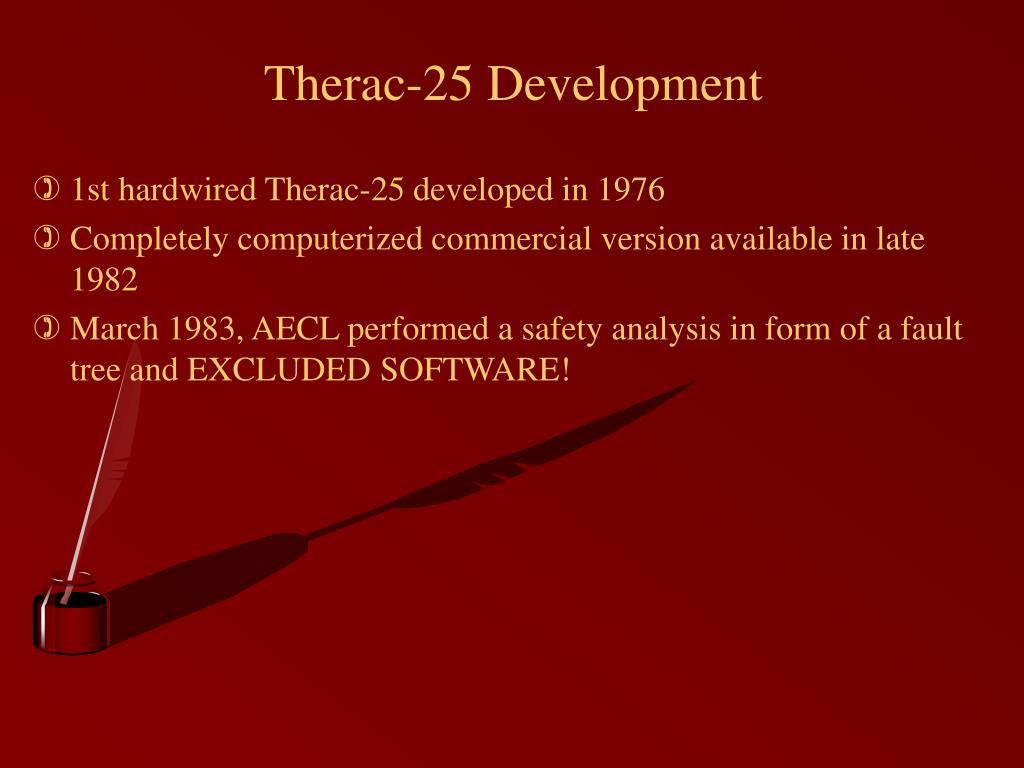 Therac-25 Development