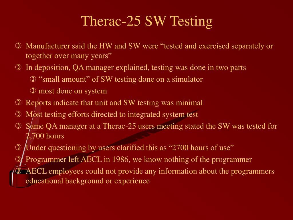 Therac-25 SW Testing
