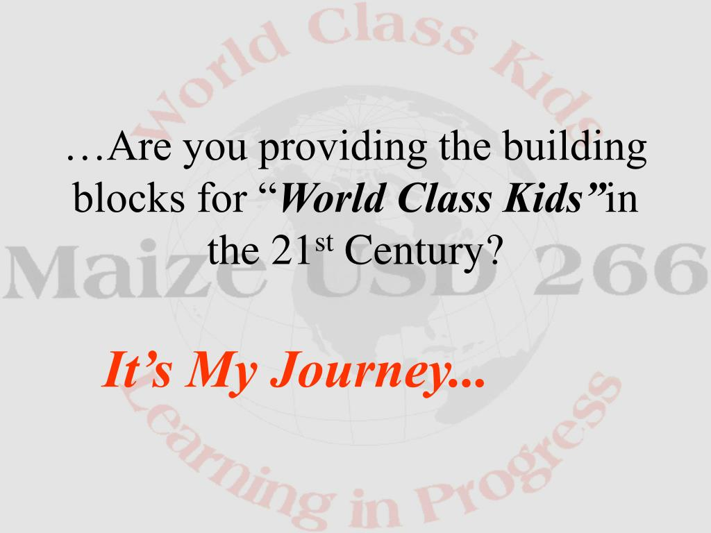 """…Are you providing the building blocks for """""""