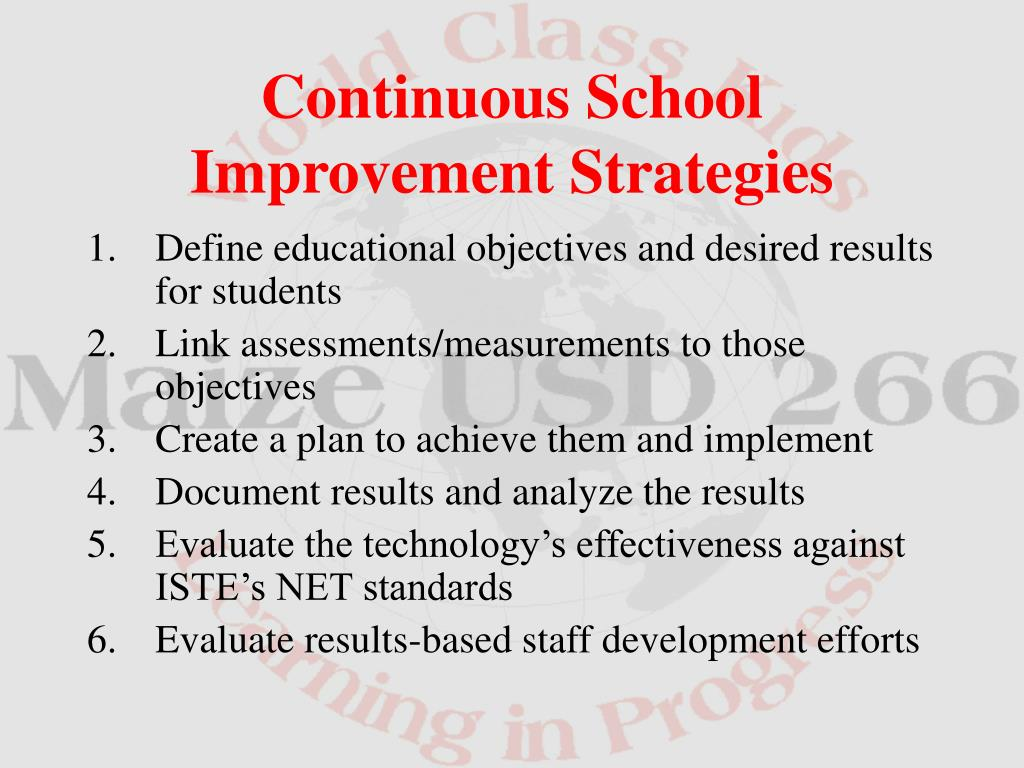 Define educational objectives and desired results for students