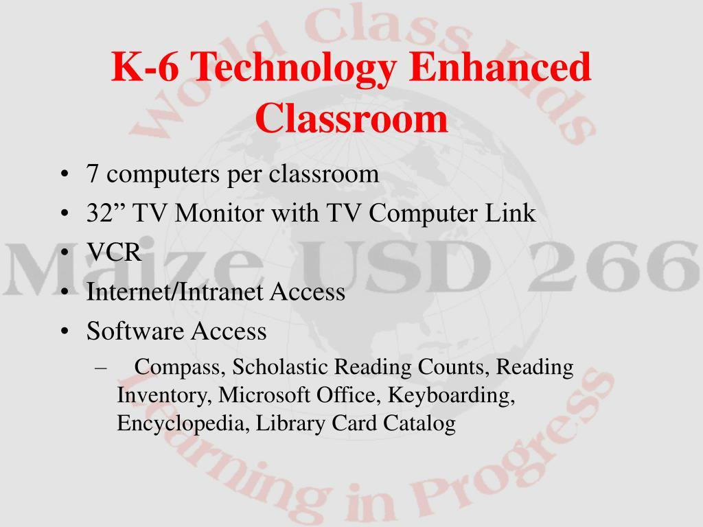 7 computers per classroom