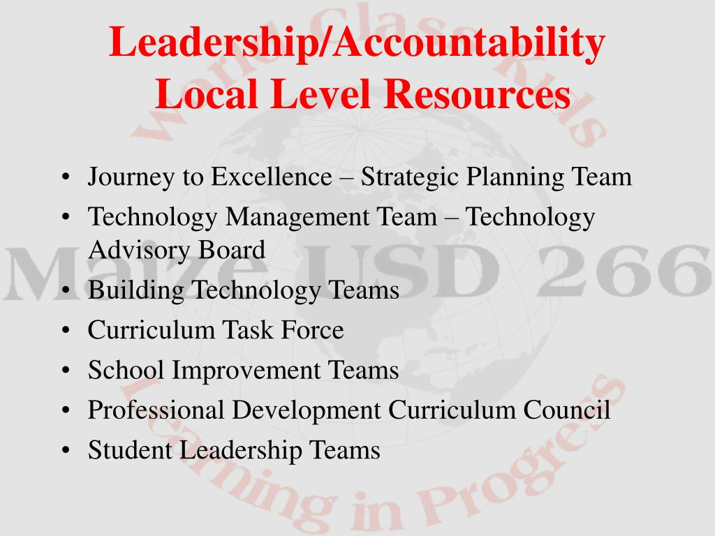 Journey to Excellence – Strategic Planning Team