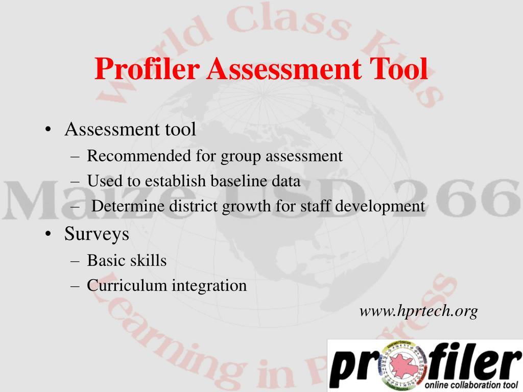 Assessment tool