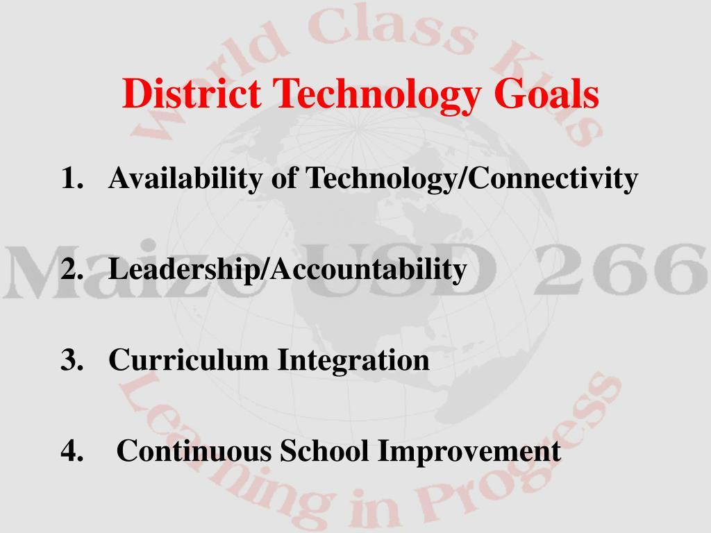 District Technology Goals
