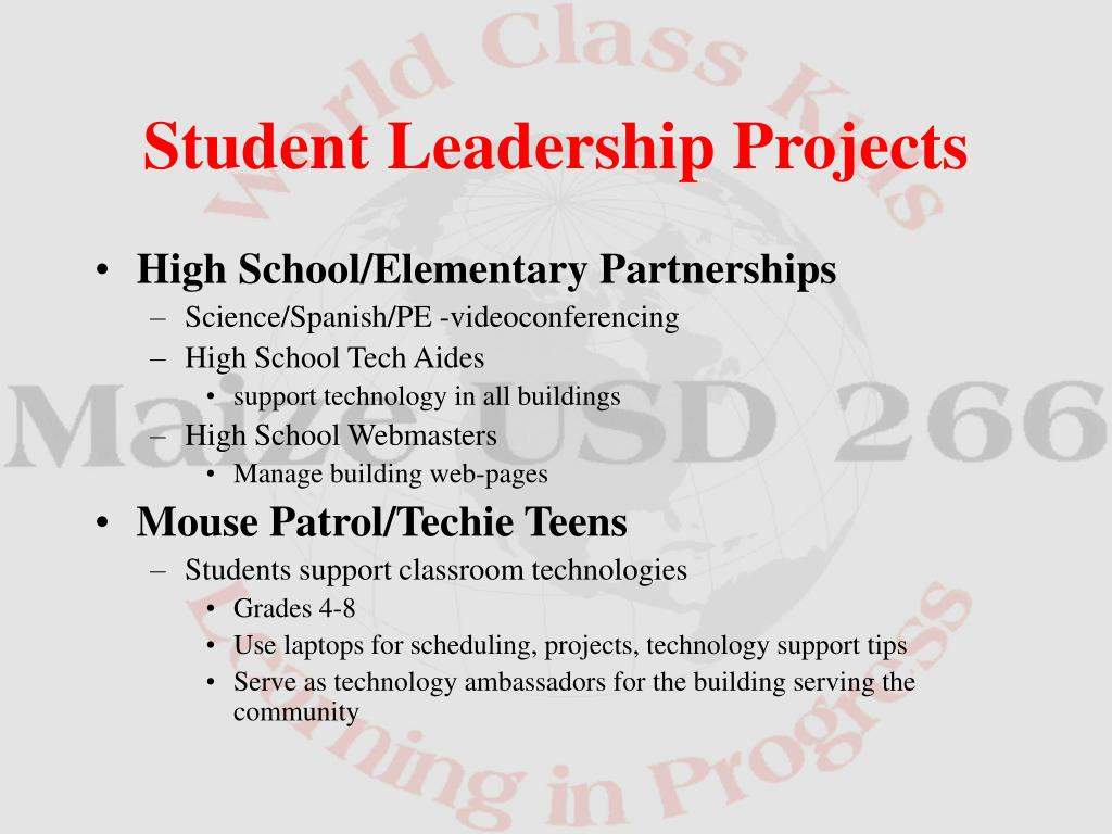 High School/Elementary Partnerships
