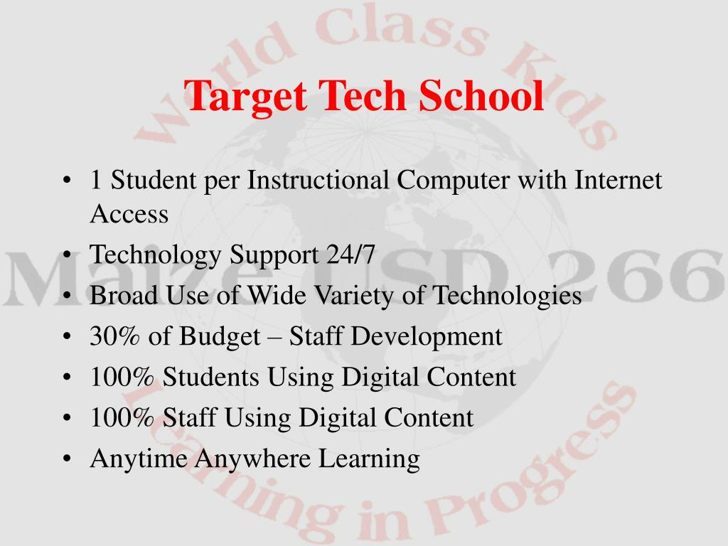 1 Student per Instructional Computer with Internet Access