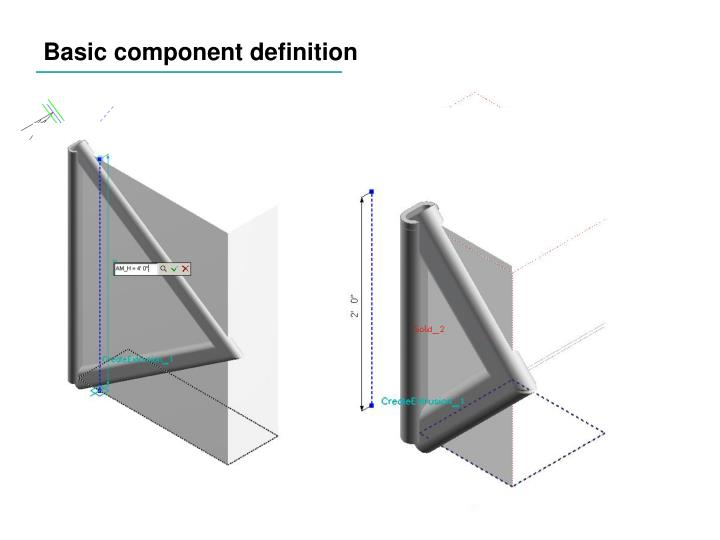 Basic component definition