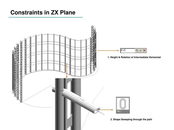 Constraints in ZX Plane