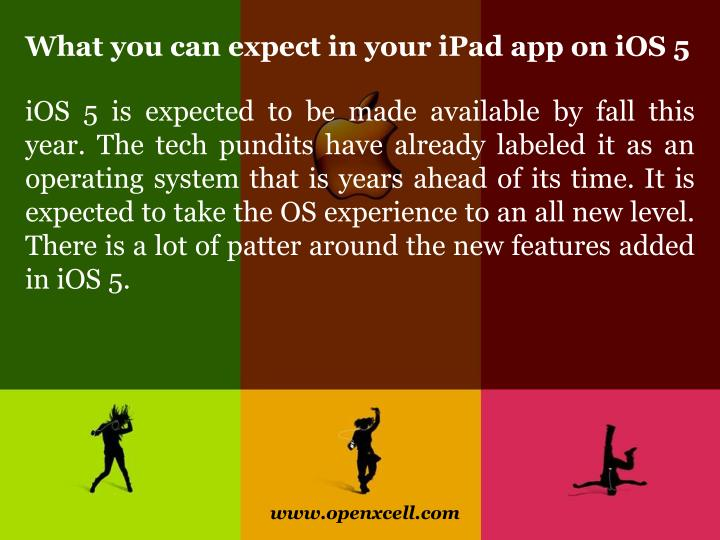 What you can expect in your ipad app on ios 53