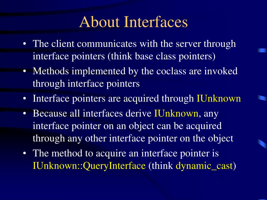 About Interfaces
