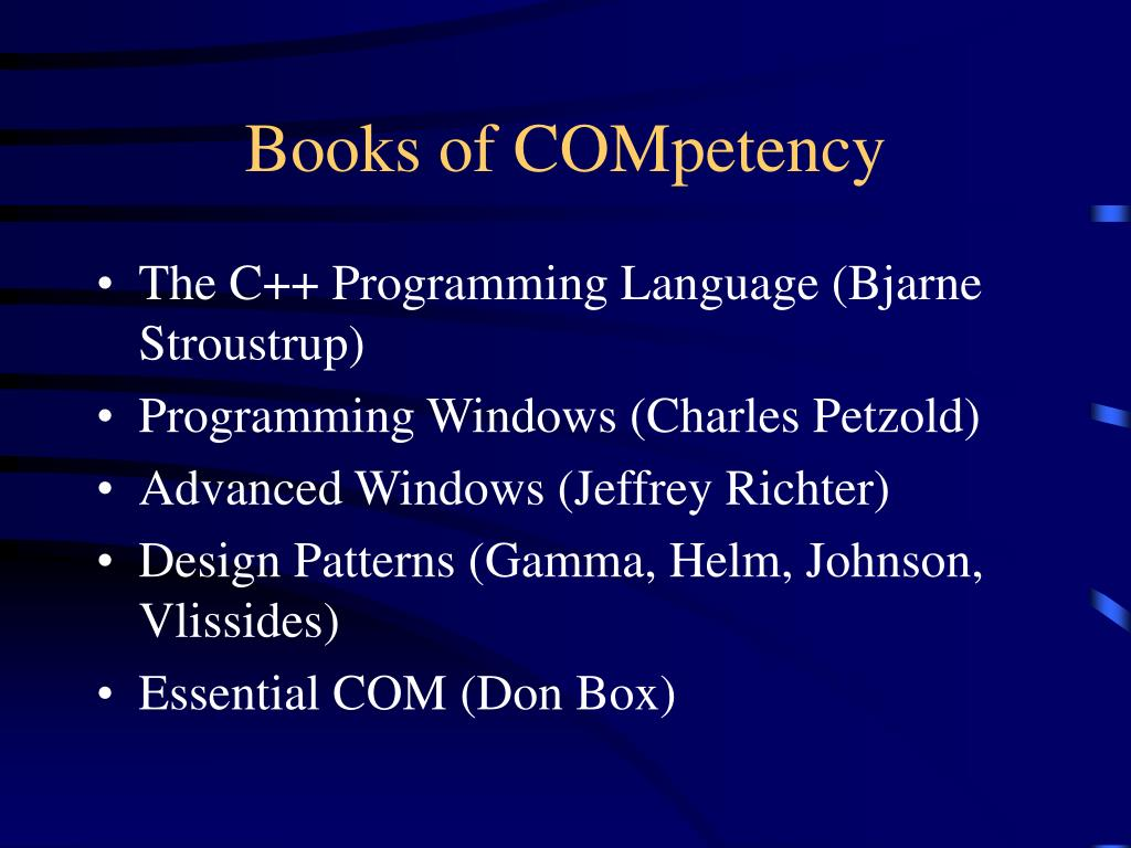 Books of COMpetency
