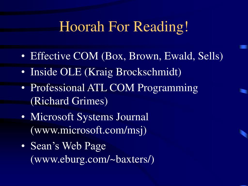 Hoorah For Reading!