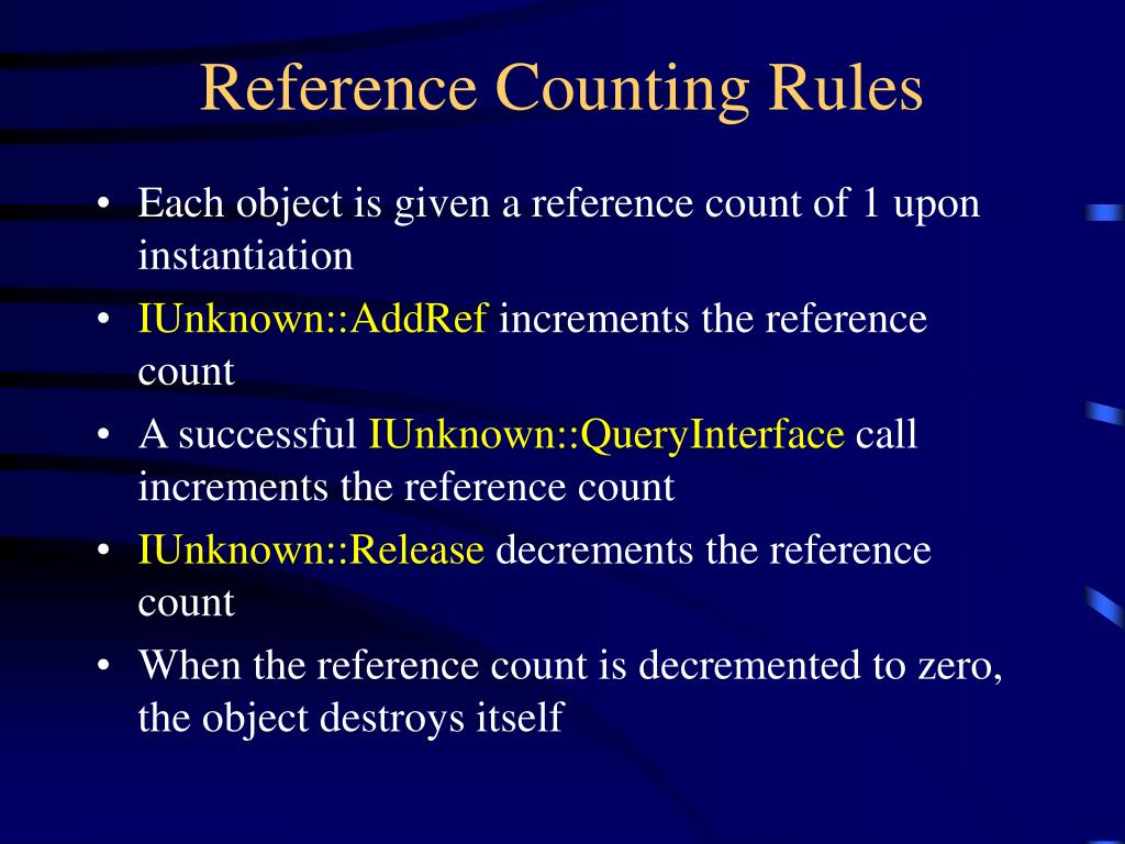 Reference Counting Rules