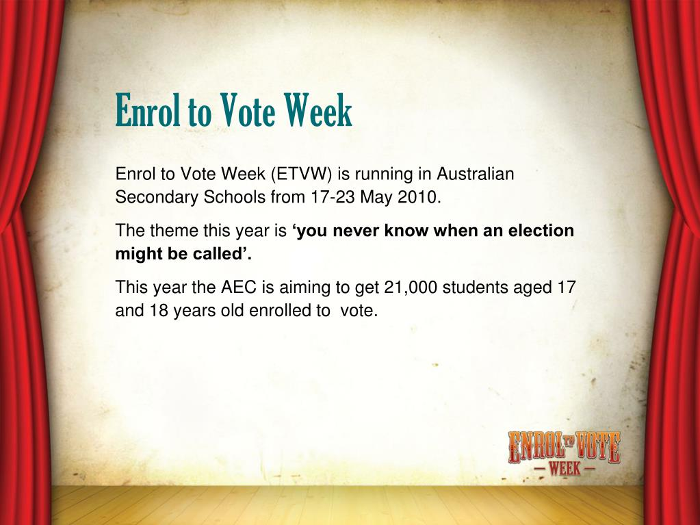 Enrol to Vote Week