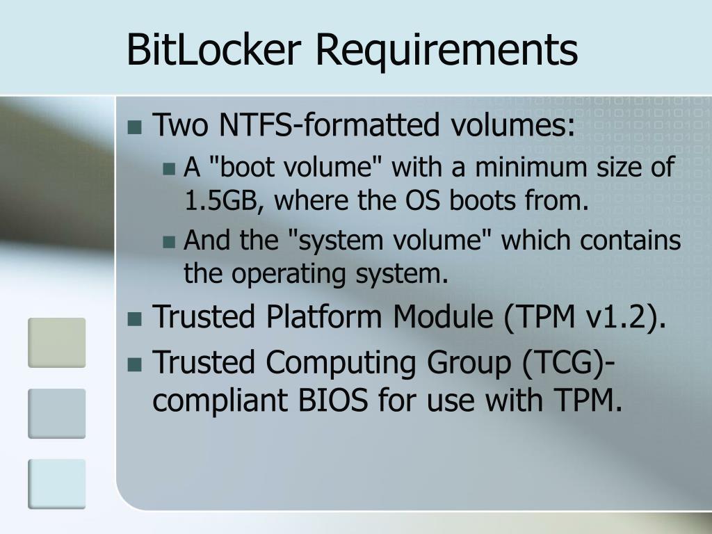 BitLocker Requirements