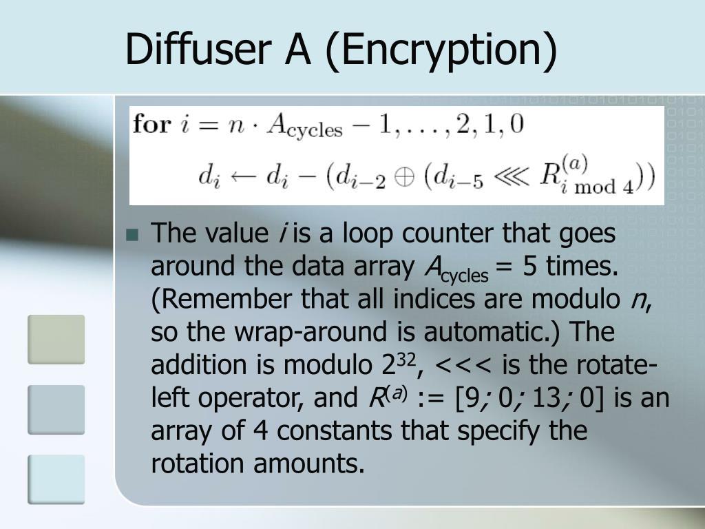 Diffuser A (Encryption)