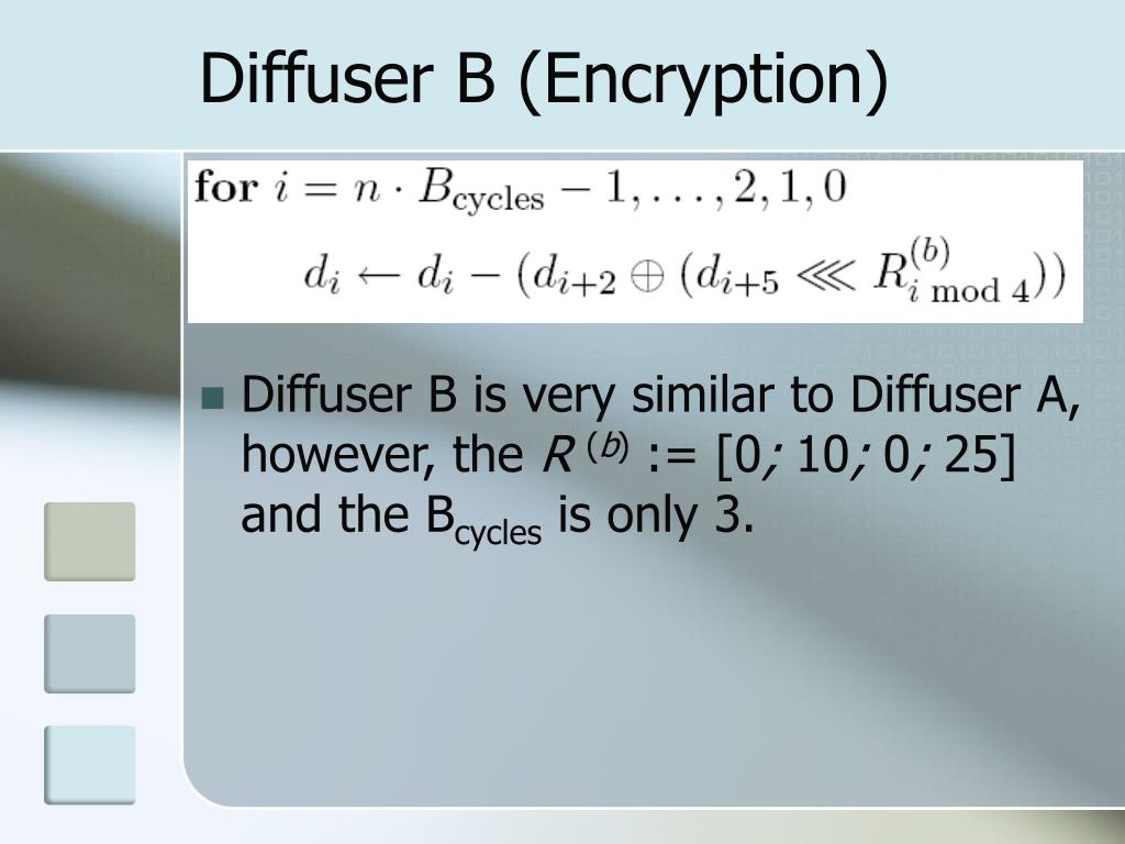 Diffuser B (Encryption)