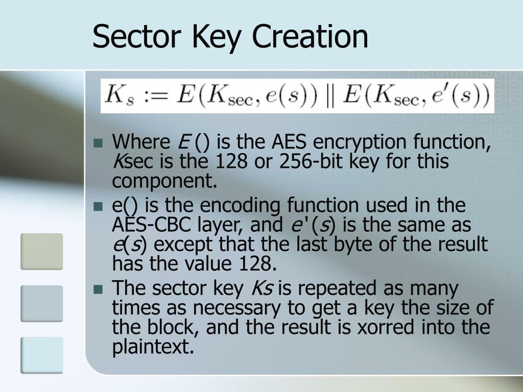 Sector Key Creation