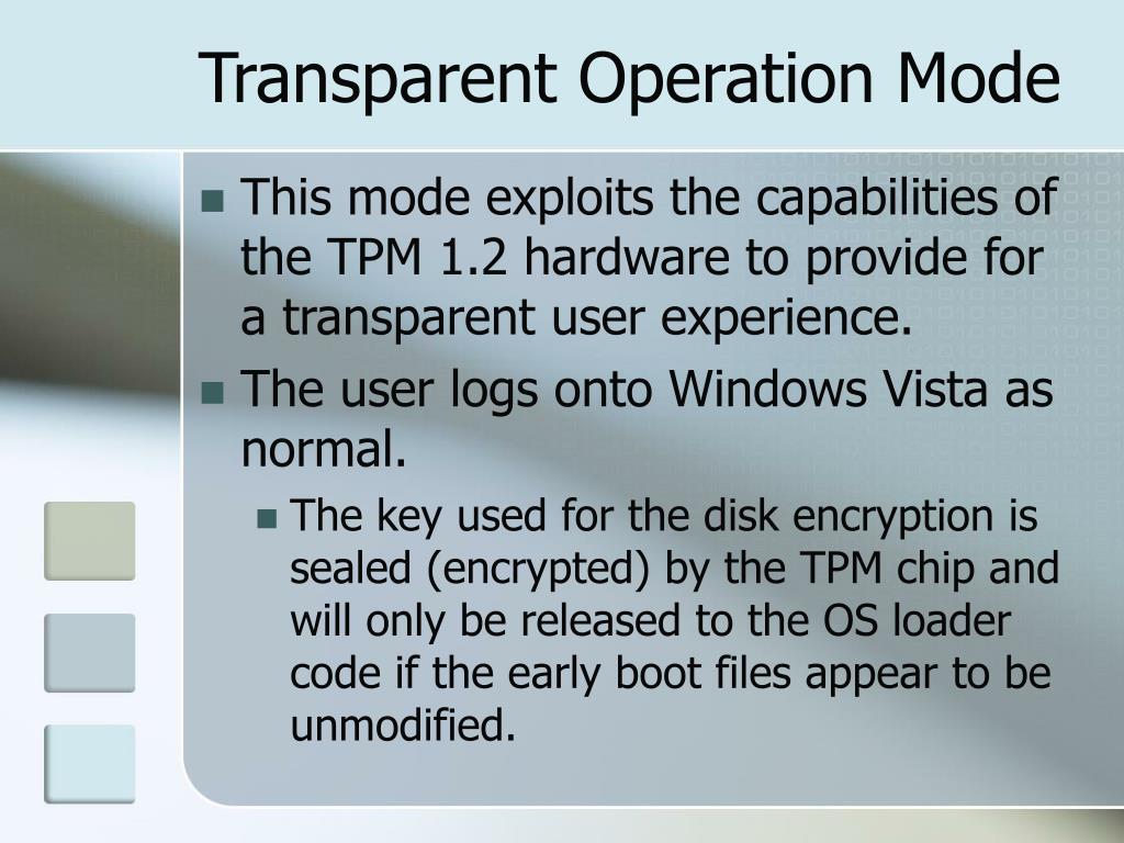 Transparent Operation Mode