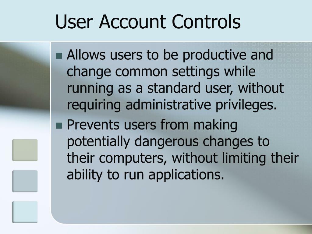 User Account Controls