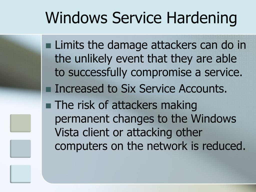 Windows Service Hardening