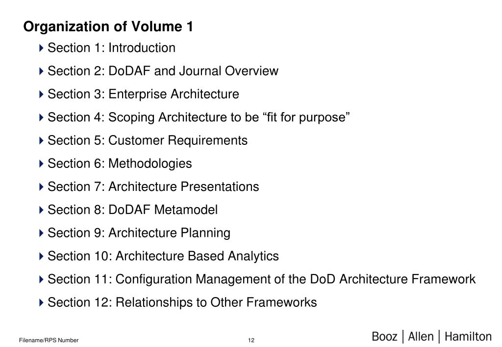Organization of Volume 1