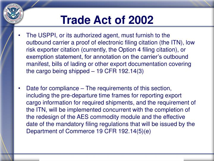 Trade Act of 2002