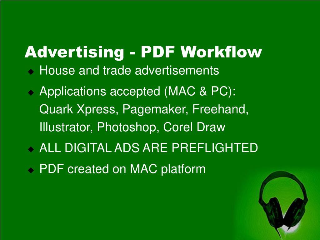 Advertising - PDF Workflow