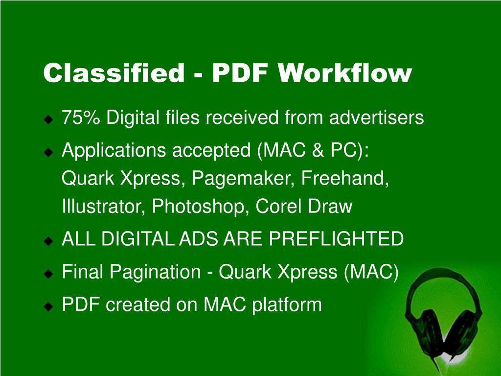 Classified - PDF Workflow