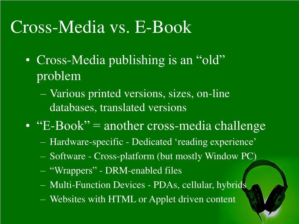 Cross-Media vs. E-Book