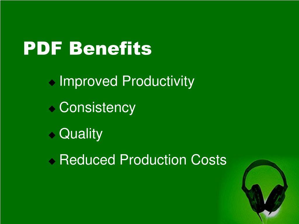 PDF Benefits