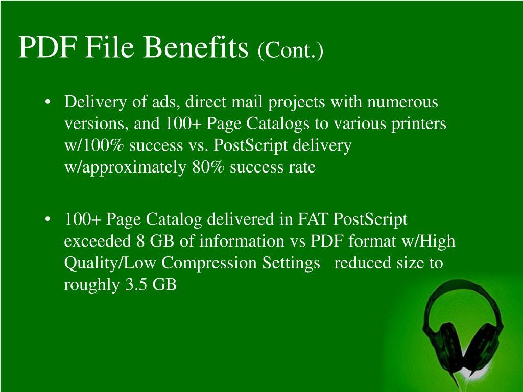 PDF File Benefits