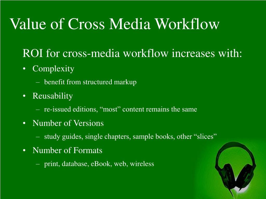 Value of Cross Media Workflow