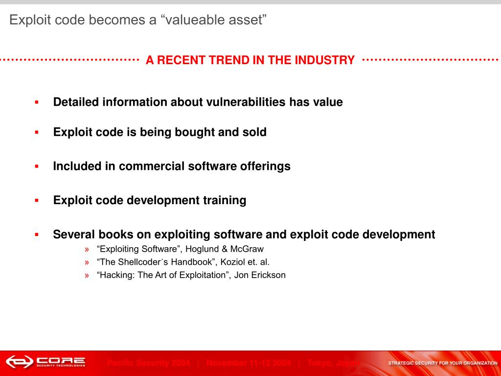 """Exploit code becomes a """"valueable asset"""""""